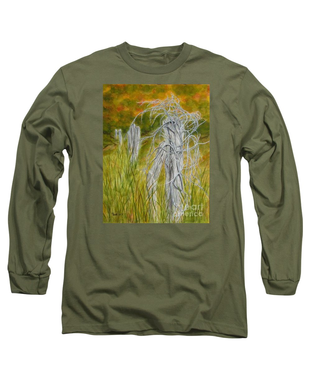 Landscape Long Sleeve T-Shirt featuring the painting Twisted by Regan J Smith