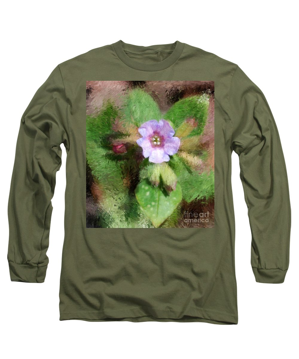 Digital Photo Long Sleeve T-Shirt featuring the photograph Untitled Floral -1 by David Lane