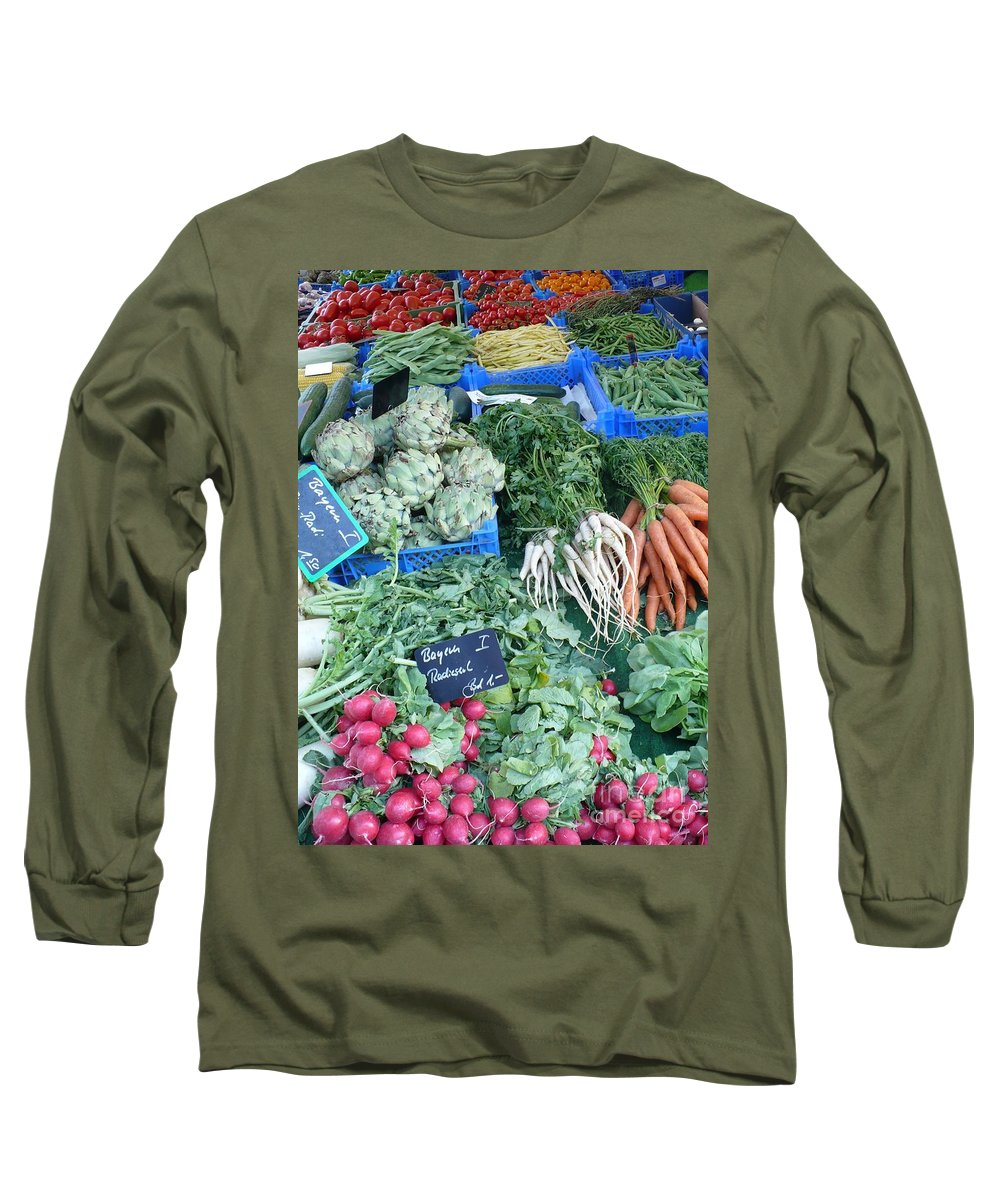 European Markets Long Sleeve T-Shirt featuring the photograph Vegetables At German Market by Carol Groenen