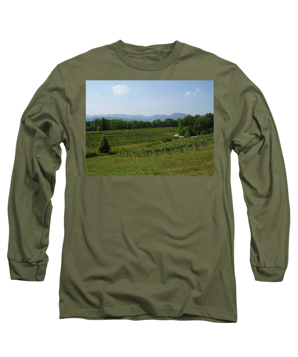 Vineyard Long Sleeve T-Shirt featuring the photograph Vineyard by Flavia Westerwelle