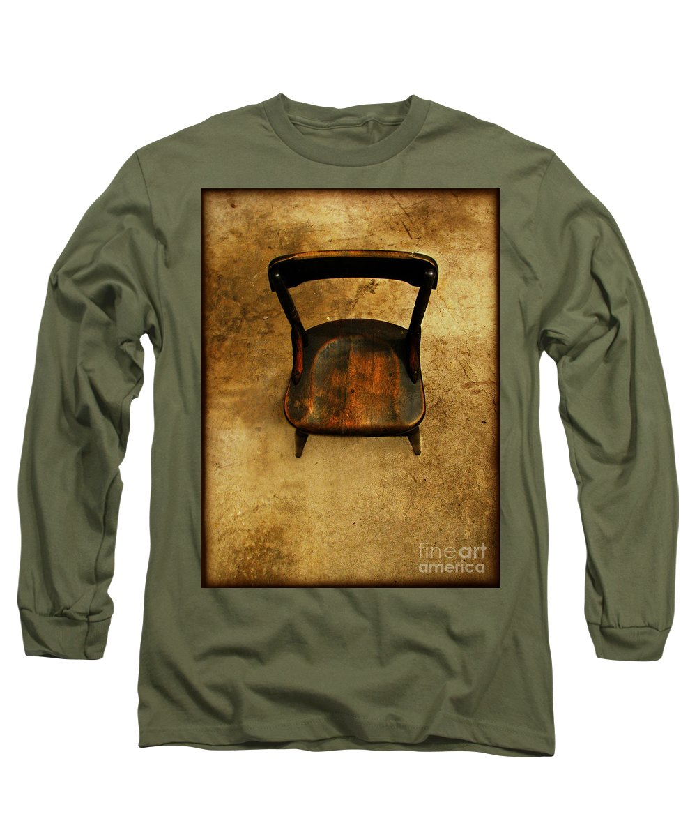 Alone Long Sleeve T-Shirt featuring the photograph Waiting To Say Goodbye by Dana DiPasquale