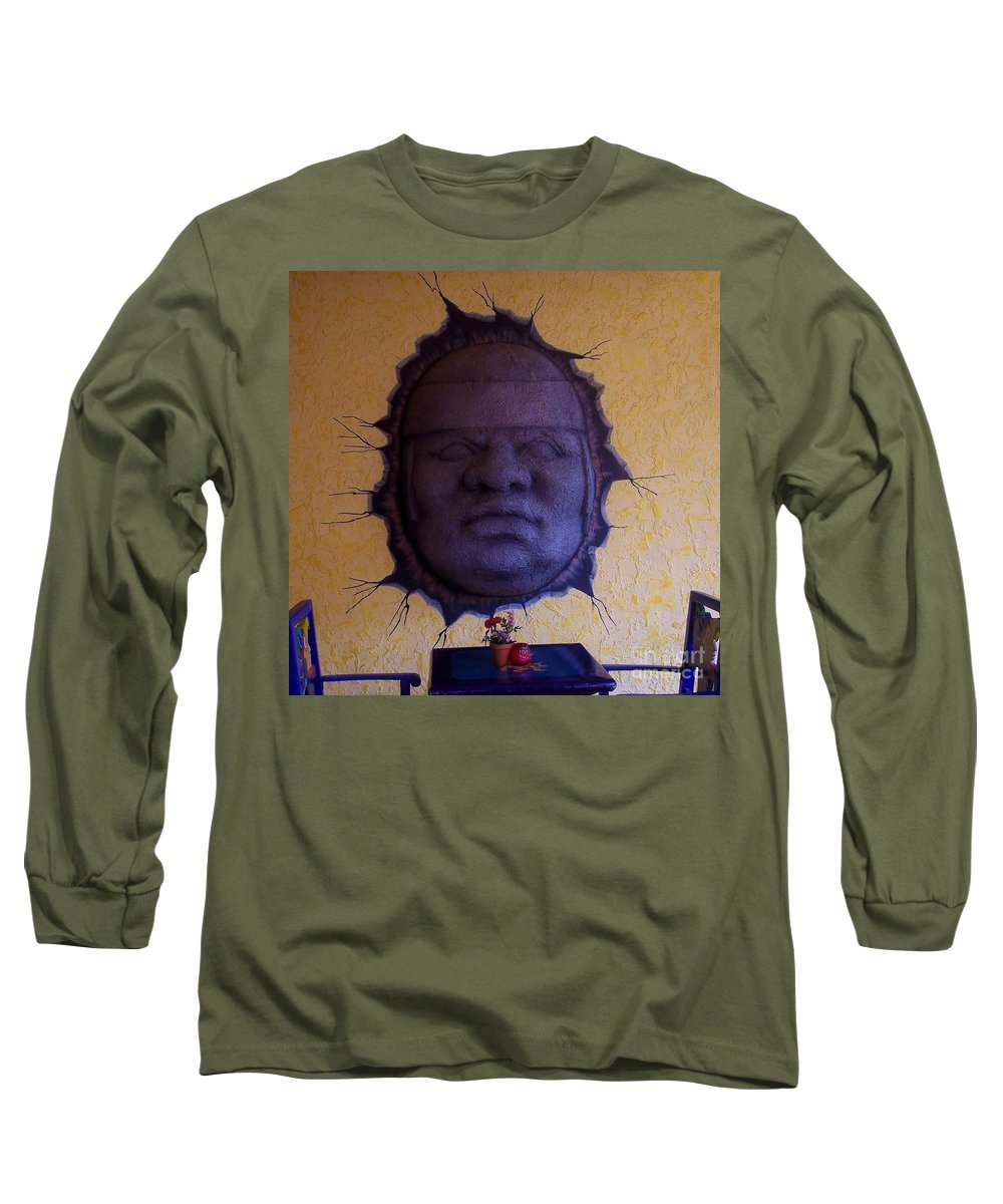 Face Long Sleeve T-Shirt featuring the photograph Watch What You Eat by Debbi Granruth