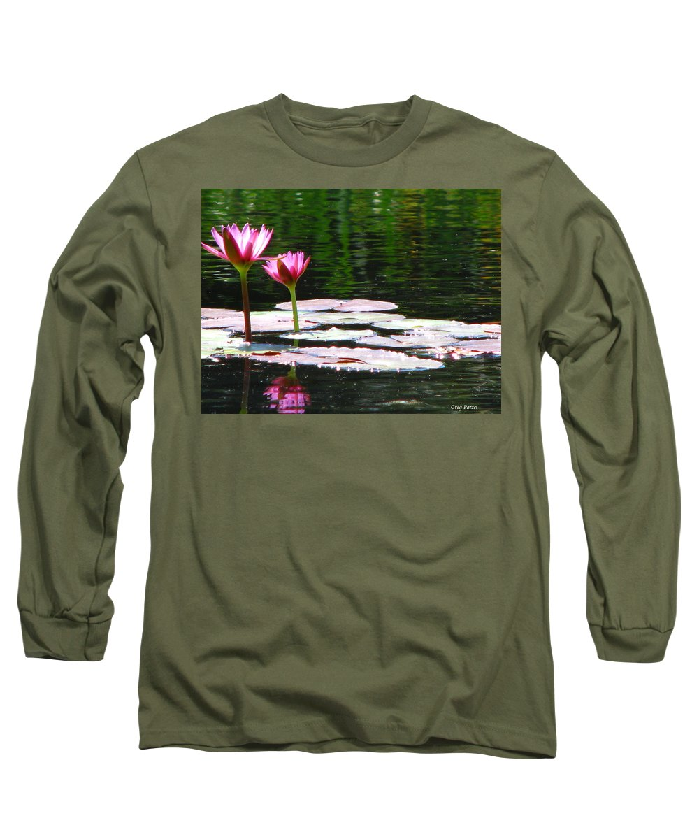 Patzer Long Sleeve T-Shirt featuring the photograph Water Lily by Greg Patzer