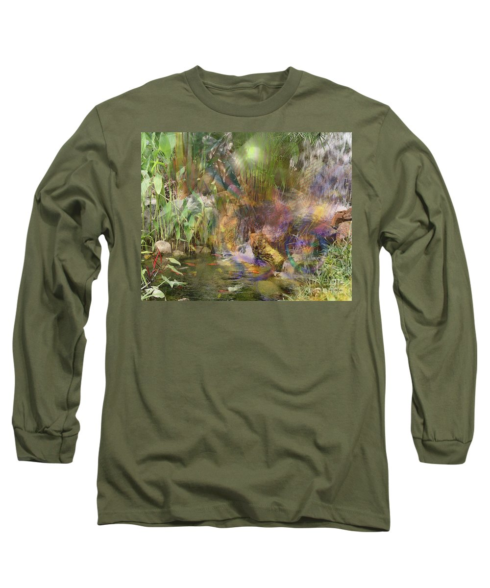 Whispering Waters Long Sleeve T-Shirt featuring the digital art Whispering Waters by John Beck