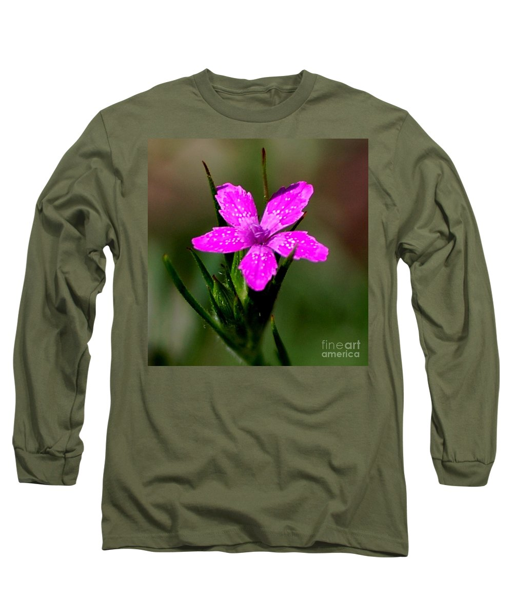 Digital Photo Long Sleeve T-Shirt featuring the photograph Wild Pink by David Lane
