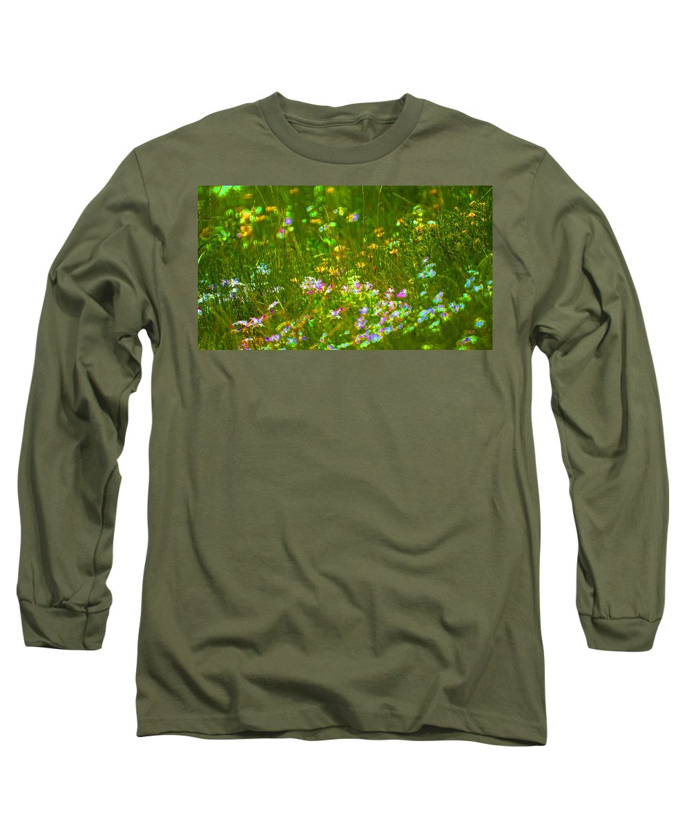 Wildflower Long Sleeve T-Shirt featuring the photograph Wildflower Field by Heather Coen