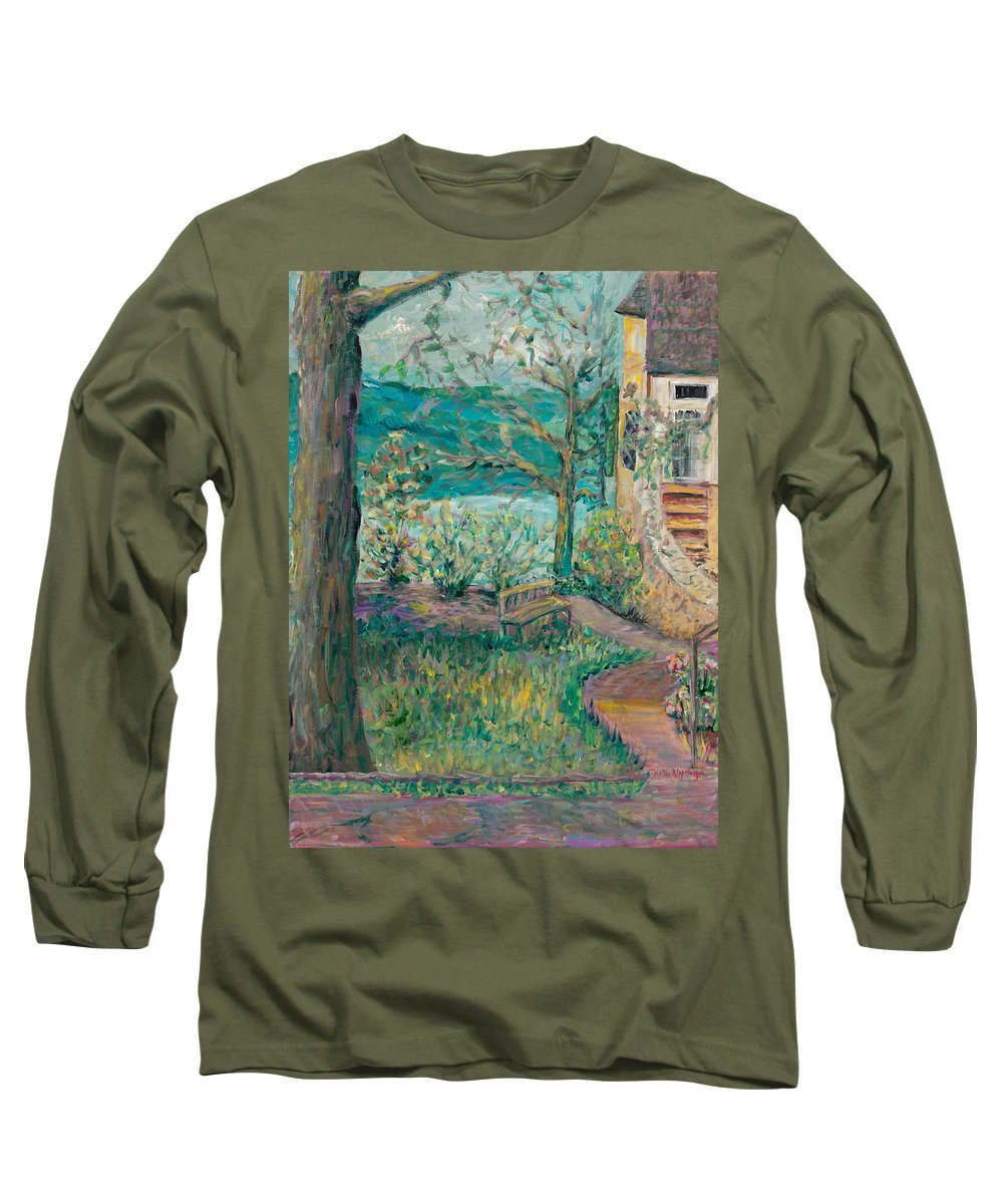 Big Cedar Lodge Long Sleeve T-Shirt featuring the painting Worman House At Big Cedar Lodge by Nadine Rippelmeyer