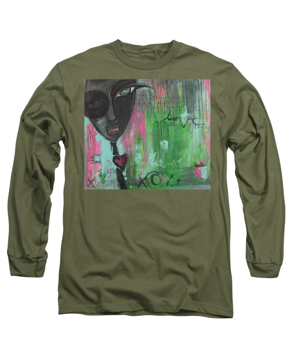 Figurative Long Sleeve T-Shirt featuring the painting You Cant Ask For More by Laurie Maves ART