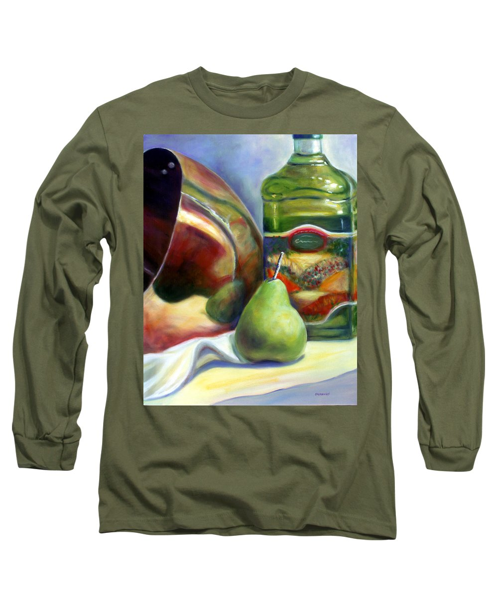Copper Vessel Long Sleeve T-Shirt featuring the painting Zabaglione Pan by Shannon Grissom