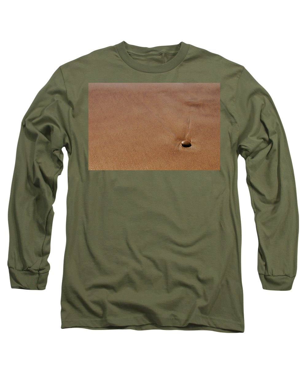 Clay Long Sleeve T-Shirt featuring the photograph Zen At The Beach by Clayton Bruster