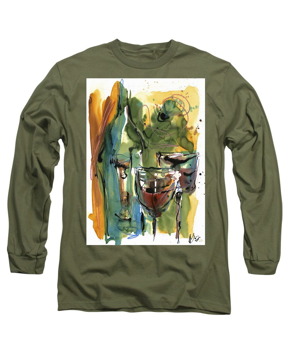 Wine Long Sleeve T-Shirt featuring the painting Zin-findel by Robert Joyner