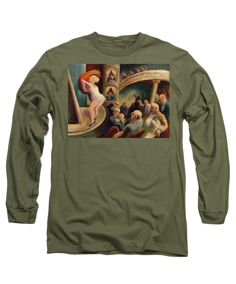 Thomas Hart Benton Paintings Long Sleeve T-Shirts