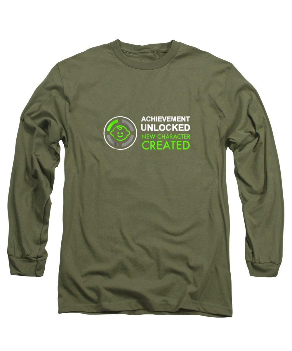 Achievement Digital Art Long Sleeve T-Shirts