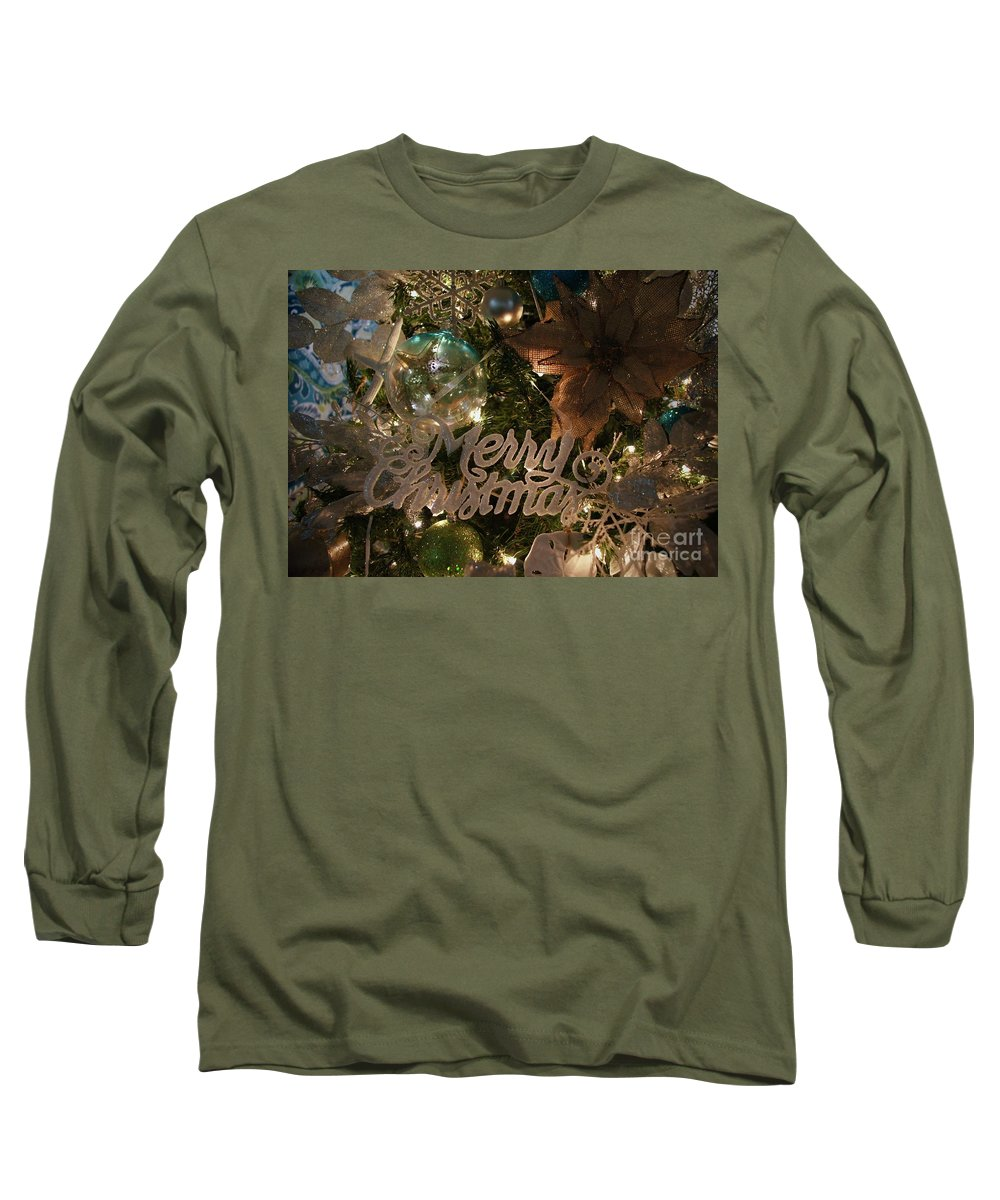Christmas Long Sleeve T-Shirt featuring the photograph Nautical Christmas by Megan Cohen