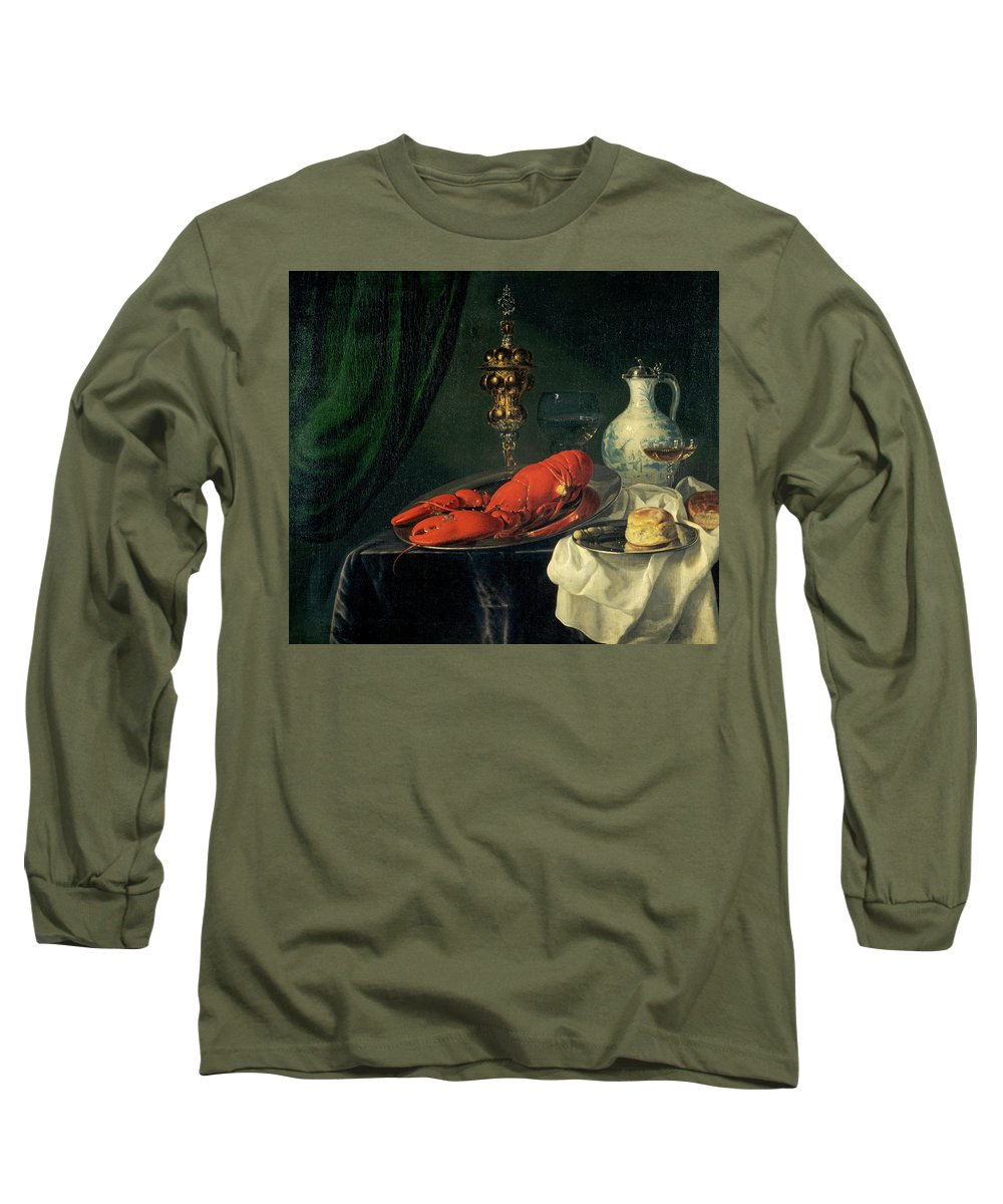 Simon Luttichuys Long Sleeve T-Shirt featuring the painting Still-life, 1650s by Simon Luttichuys