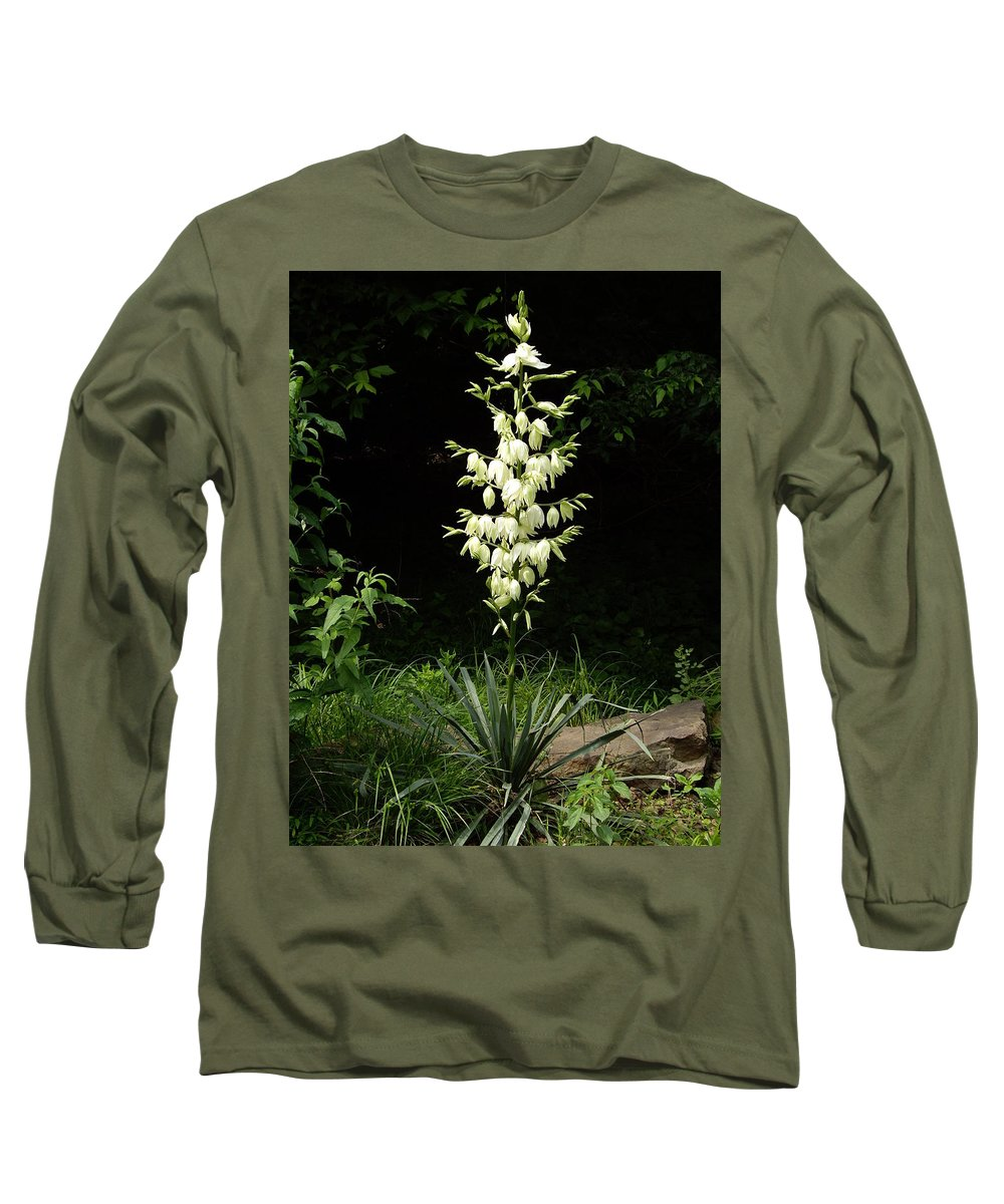 Yucca Long Sleeve T-Shirt featuring the photograph Yucca Blossoms by Nancy Ayanna Wyatt