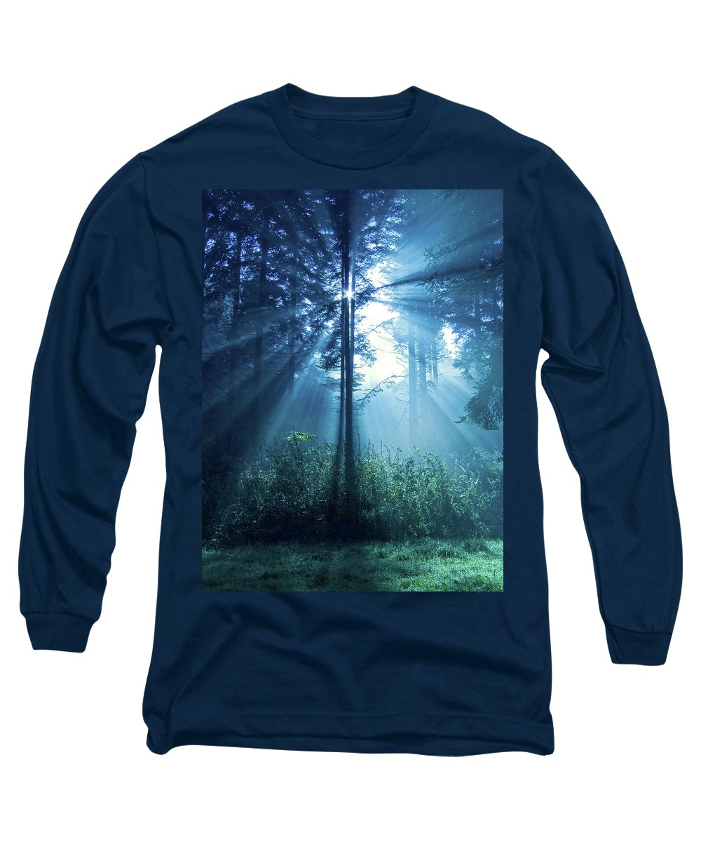 Nature Long Sleeve T-Shirt featuring the photograph Magical Light by Daniel Csoka