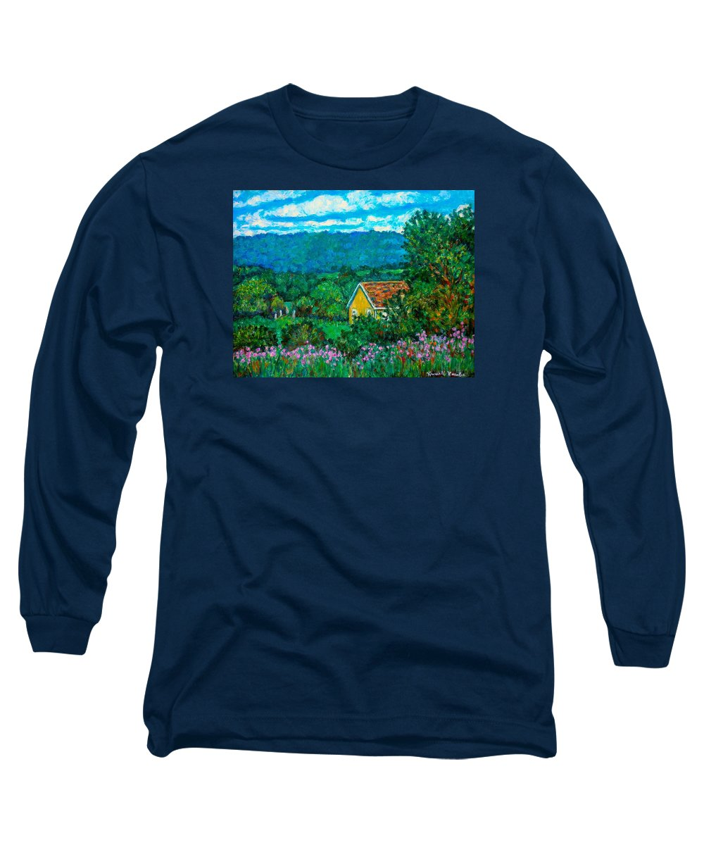 Landscape Long Sleeve T-Shirt featuring the painting 460 by Kendall Kessler