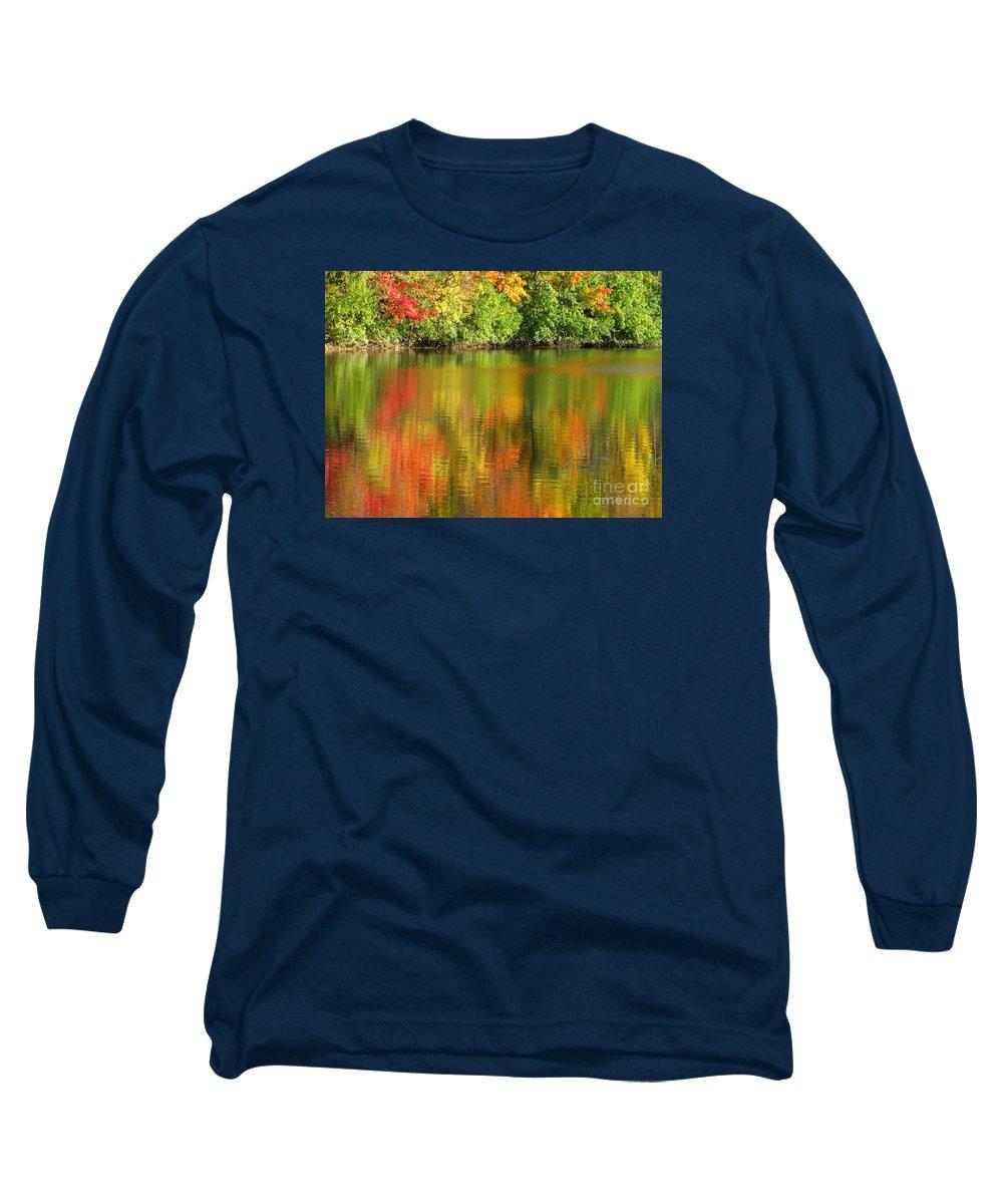 Autumn Long Sleeve T-Shirt featuring the photograph Autumn Brilliance by Ann Horn