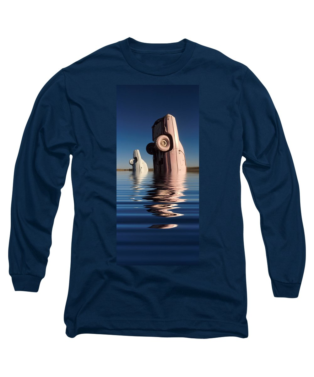 Cadillac Long Sleeve T-Shirt featuring the photograph Bobbing For Carburetors by Jerry McElroy