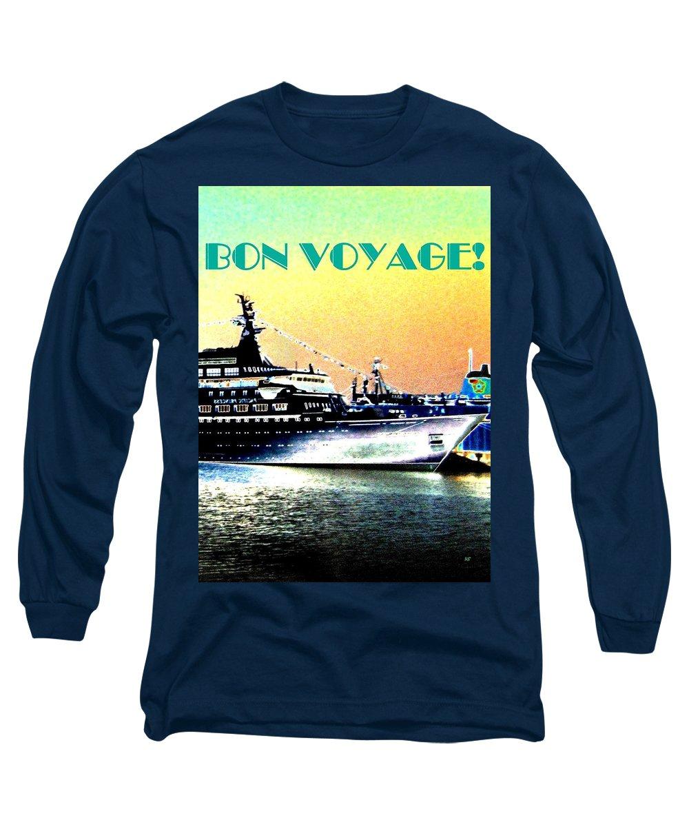 Bon Voyage Long Sleeve T-Shirt featuring the digital art Bon Voyage by Will Borden