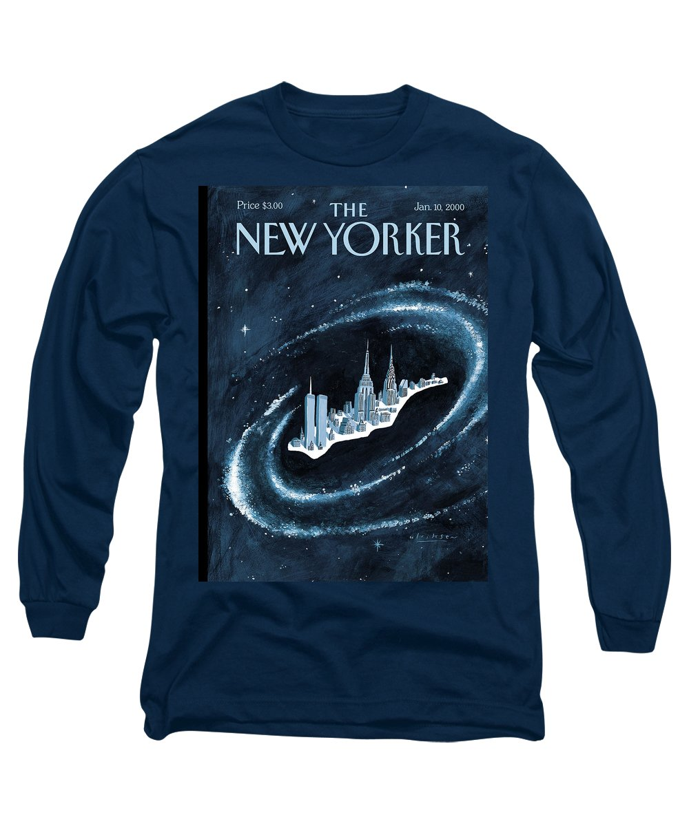 Center Long Sleeve T-Shirt featuring the painting Center Of The Universe by Mark Ulriksen