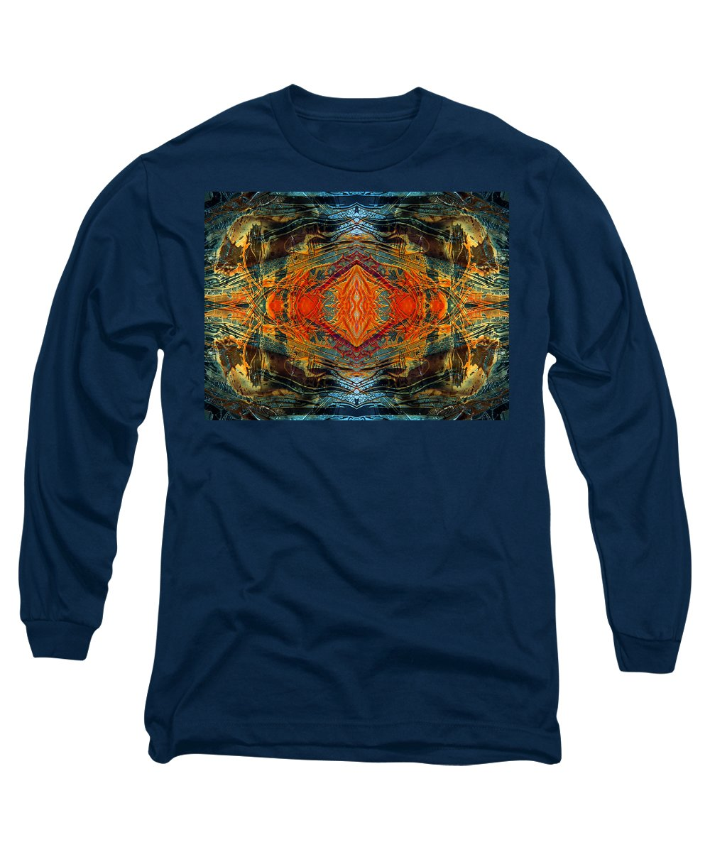 Surrealism Long Sleeve T-Shirt featuring the digital art Decalcomaniac Intersection 2 by Otto Rapp