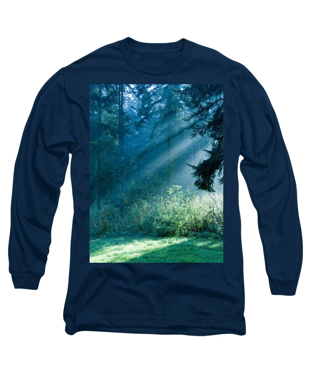 Nature Long Sleeve T-Shirt featuring the photograph Elven Forest by Daniel Csoka