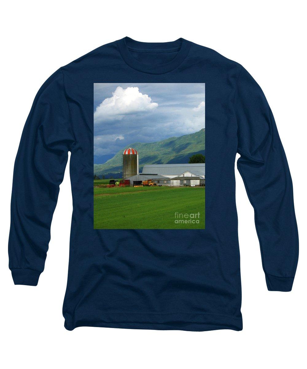 Farm Long Sleeve T-Shirt featuring the photograph Farm In The Valley by Ann Horn