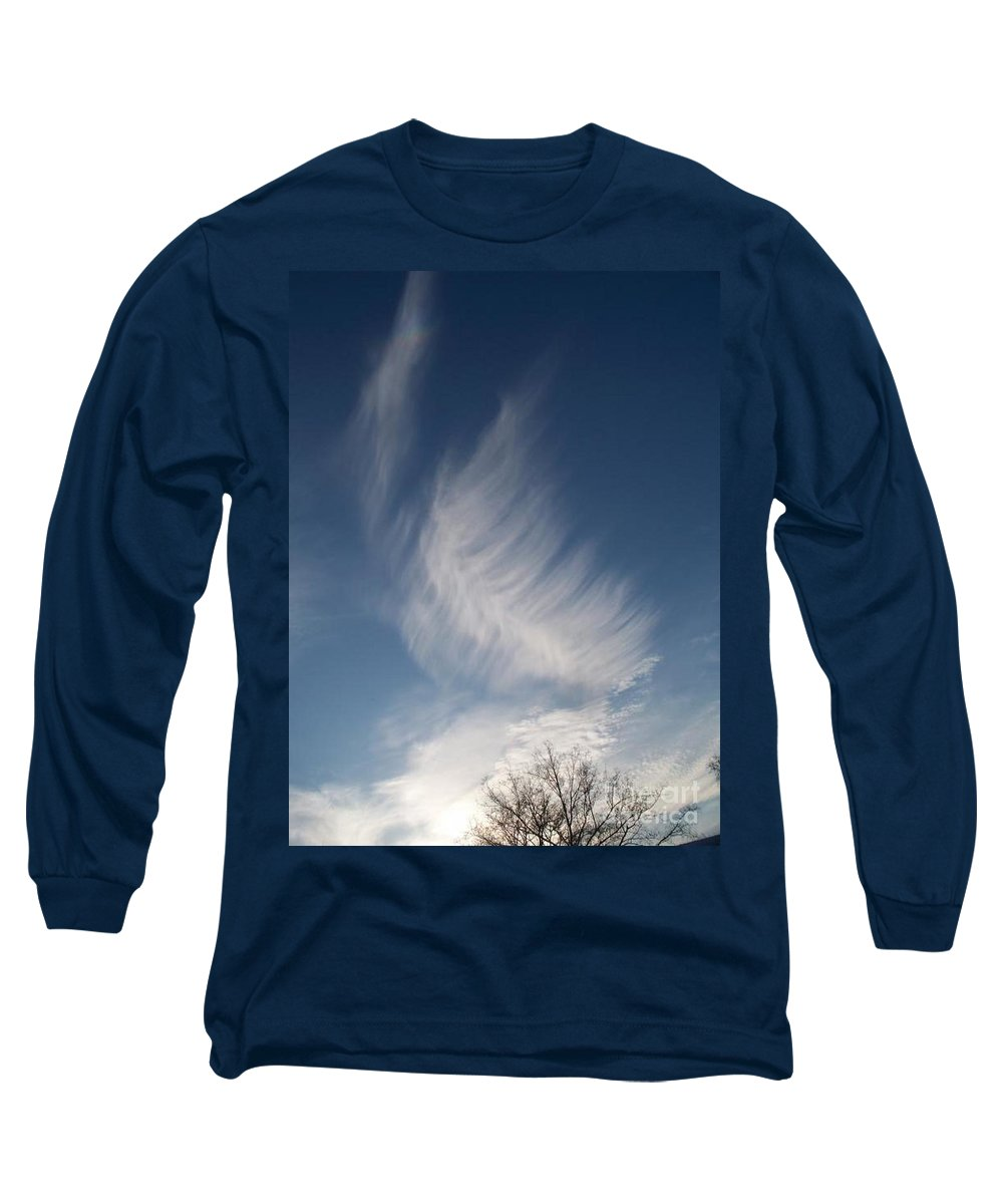 Angel Long Sleeve T-Shirt featuring the photograph Feather Cloud By Diane Schiabor by Eric Schiabor