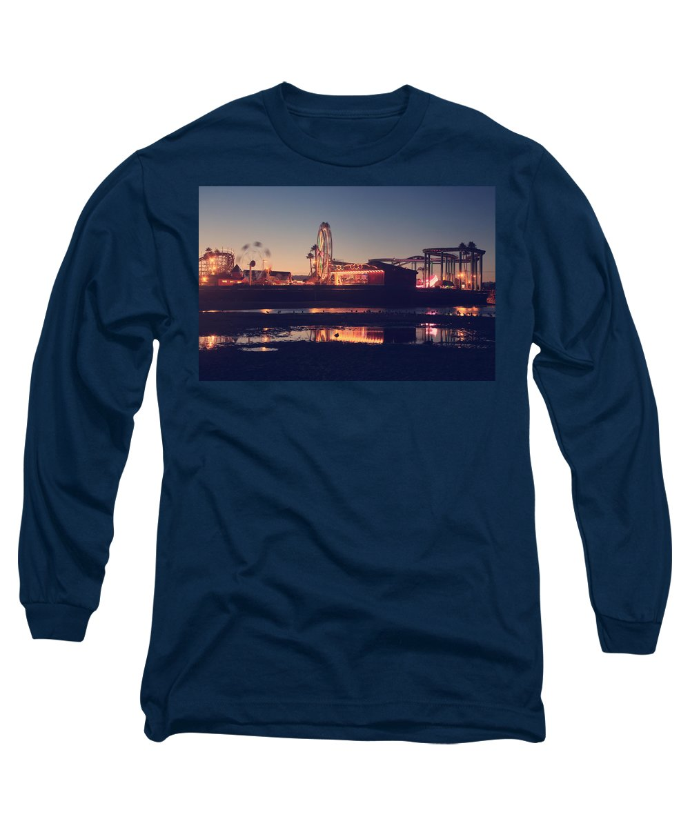 Santa Cruz Beach Boardwalk Long Sleeve T-Shirt featuring the photograph Fun And Games by Laurie Search