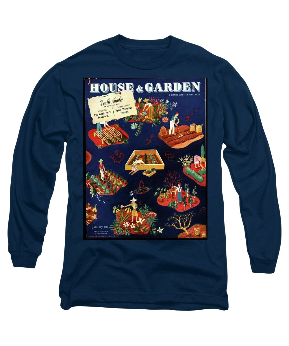 House And Garden Long Sleeve T-Shirt featuring the photograph House And Garden The Gardener's Yearbook Cover by Ilonka Karasz