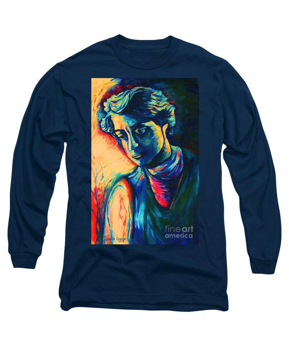 Joseph From The Bible Long Sleeve T-Shirt featuring the painting Joseph The Dreamer by Carole Spandau