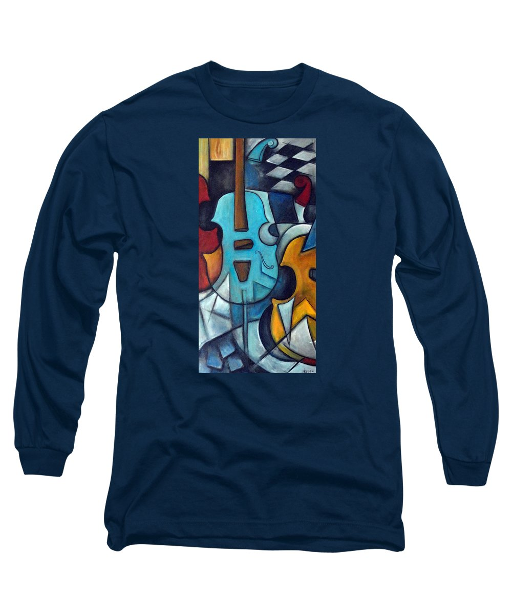 Music Long Sleeve T-Shirt featuring the painting La Musique 2 by Valerie Vescovi