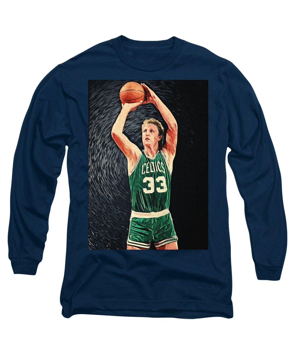 Larry Bird Long Sleeve T-Shirts