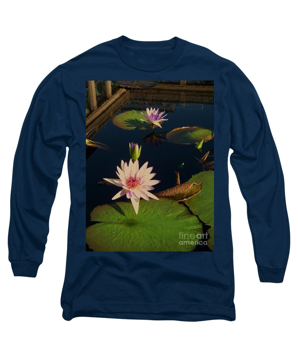 Photograph Long Sleeve T-Shirt featuring the photograph Lily White Monet by Eric Schiabor
