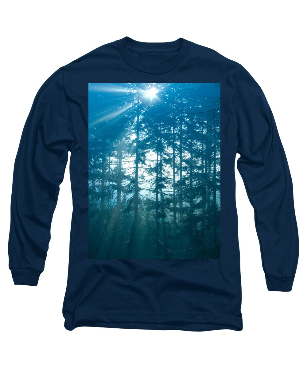 Nature Long Sleeve T-Shirt featuring the photograph Mystic Light by Daniel Csoka