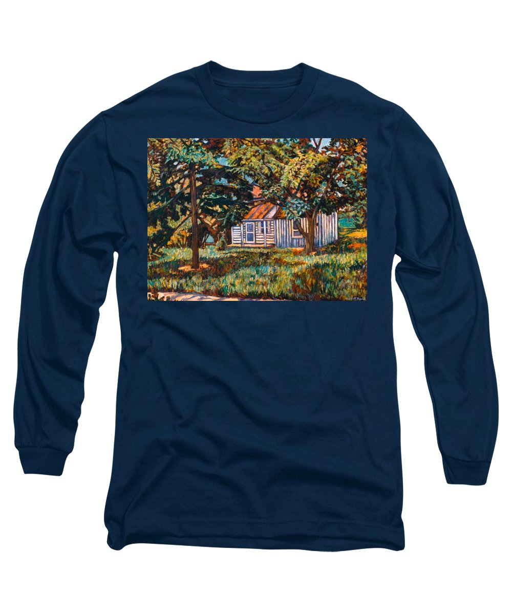 Architecture Long Sleeve T-Shirt featuring the painting Near The Tech Duck Pond by Kendall Kessler