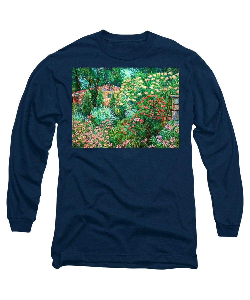 Garden Long Sleeve T-Shirt featuring the painting North Albemarle In Mclean Va by Kendall Kessler