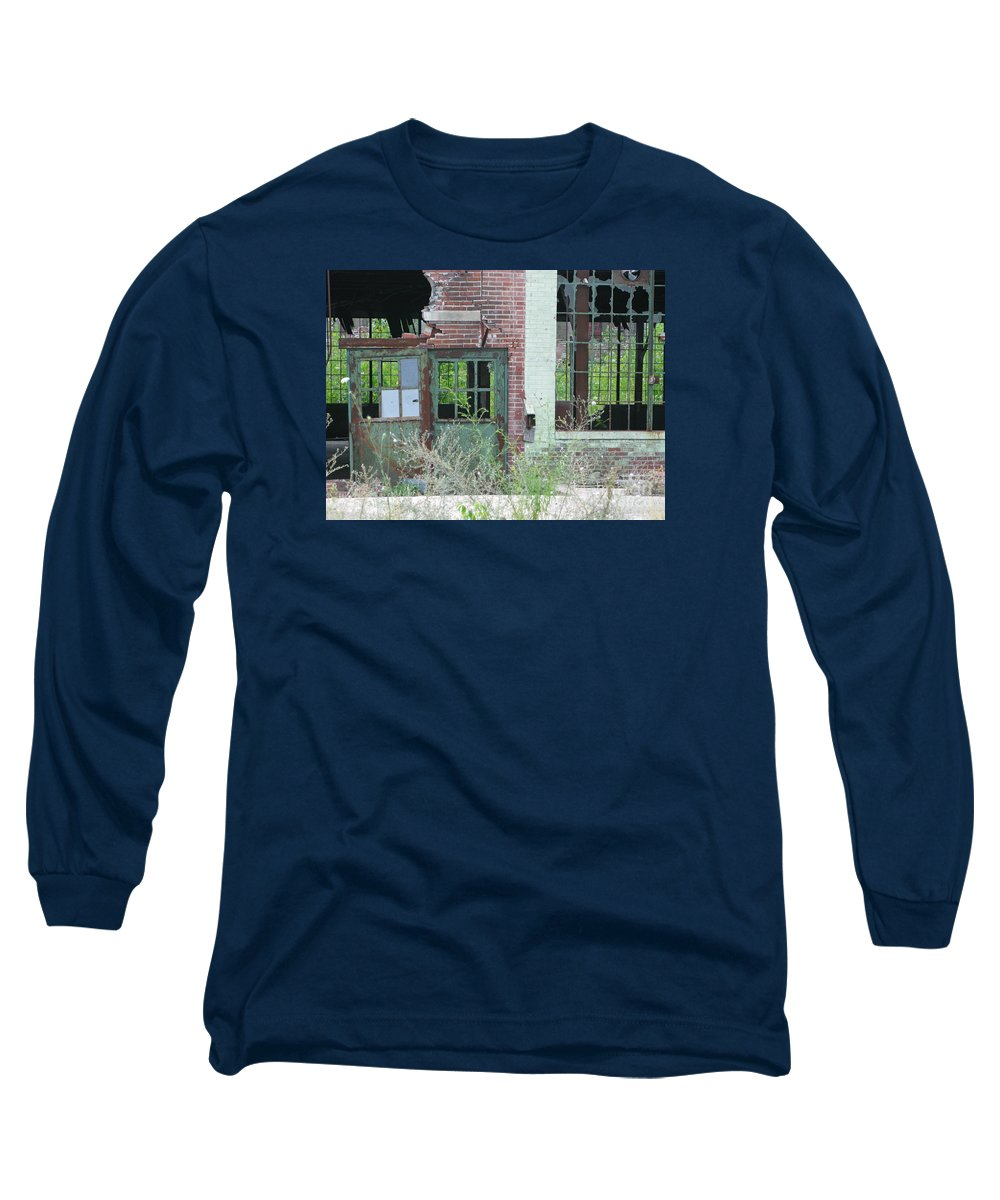 Factory Long Sleeve T-Shirt featuring the photograph Obsolete by Ann Horn