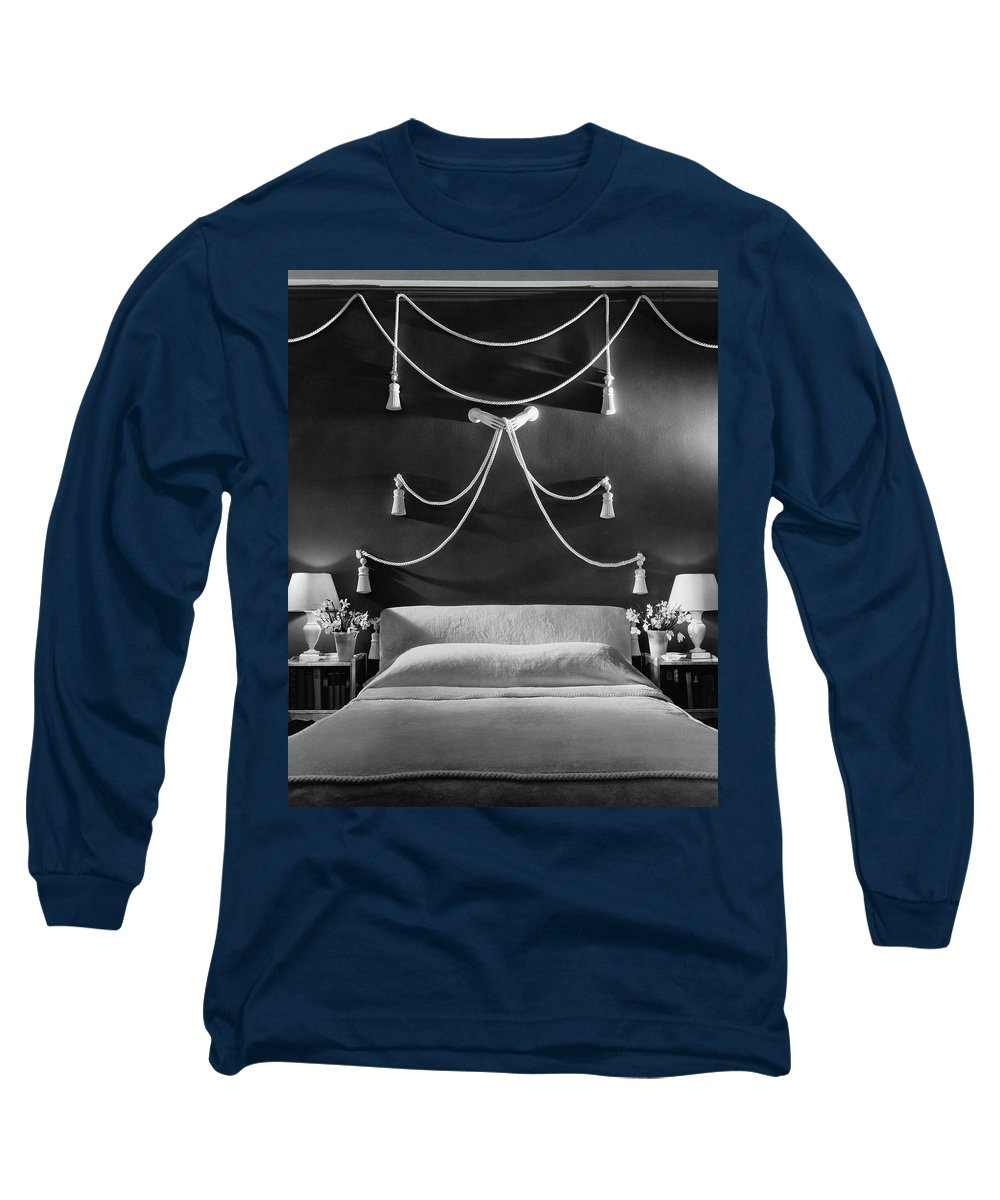 Interior Long Sleeve T-Shirt featuring the photograph Rose Hobart's Bedroom by The 3