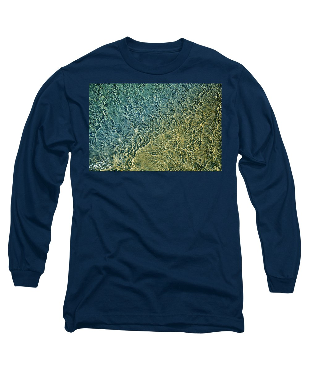Ocean Long Sleeve T-Shirt featuring the photograph Seashore Abstract by Laura Fasulo