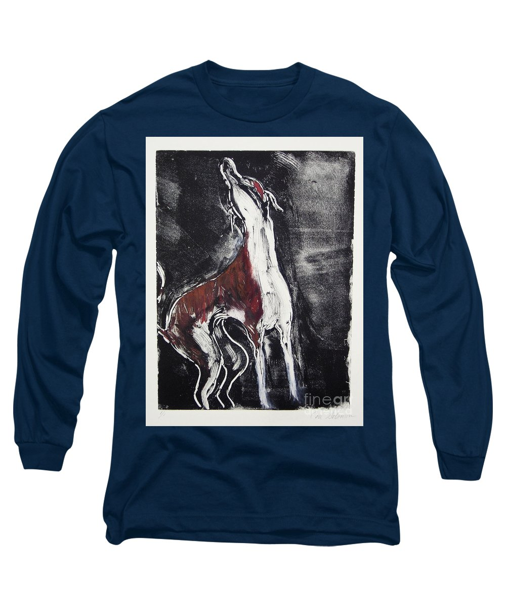 Framed Long Sleeve T-Shirt featuring the mixed media Singing For Joy by Cori Solomon