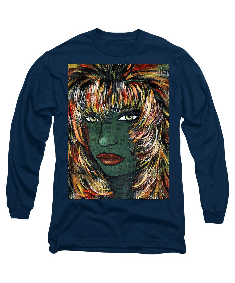 Woman Long Sleeve T-Shirt featuring the painting Tattoo by Natalie Holland