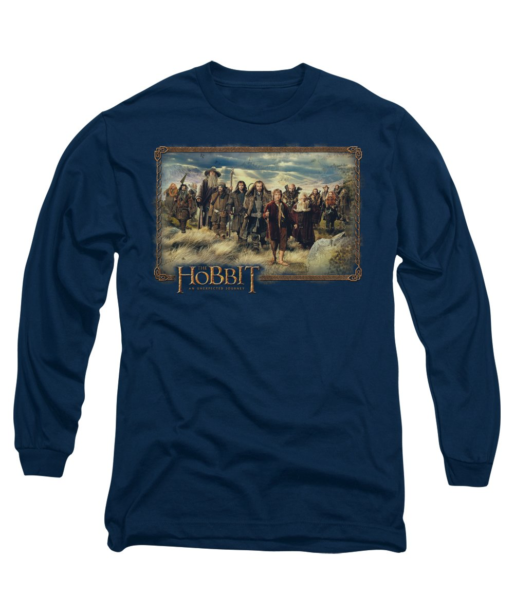 The Hobbit Long Sleeve T-Shirt featuring the digital art The Hobbit - Hobbit And Company by Brand A