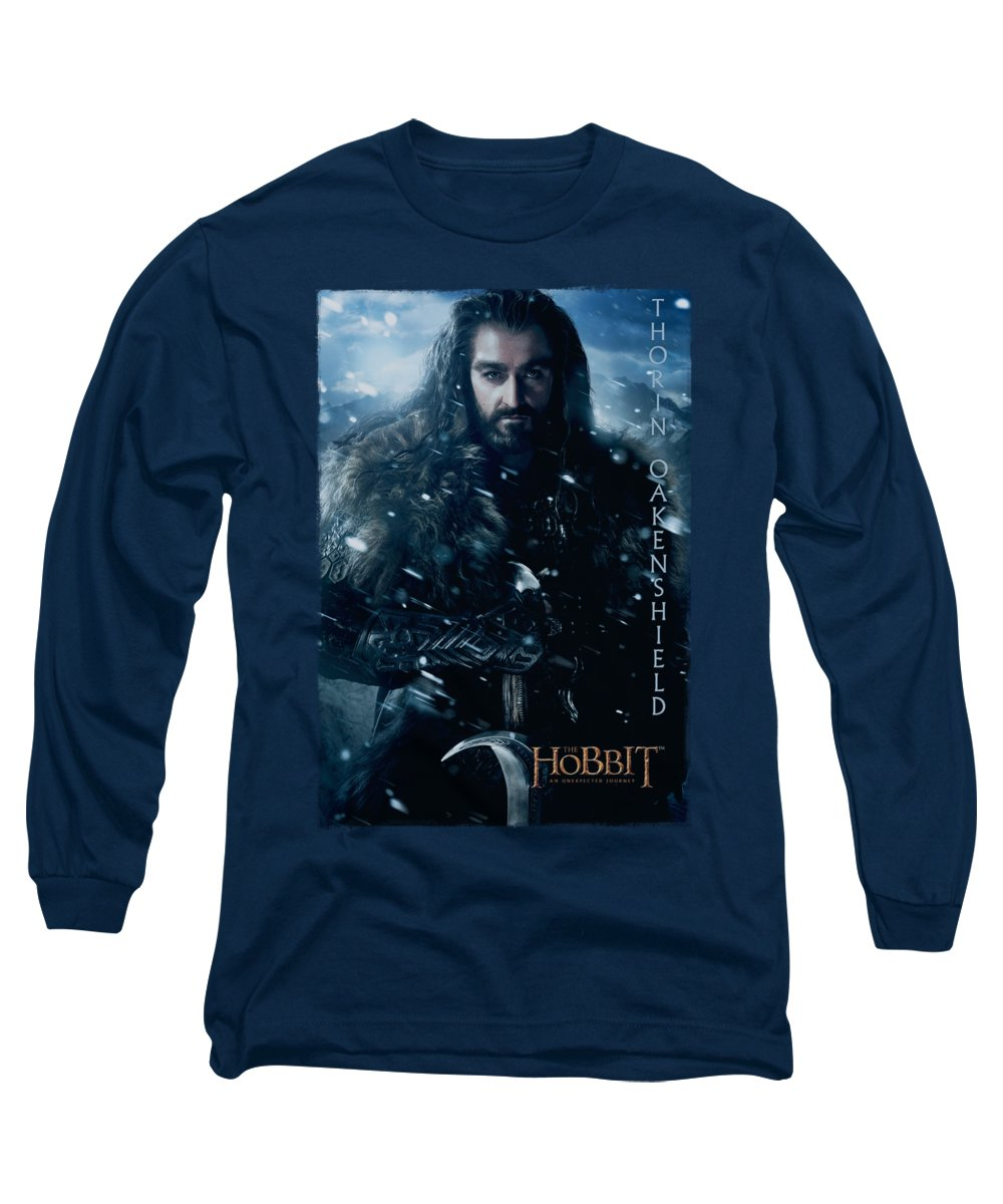The Hobbit Long Sleeve T-Shirt featuring the digital art The Hobbit - Thorin Poster by Brand A