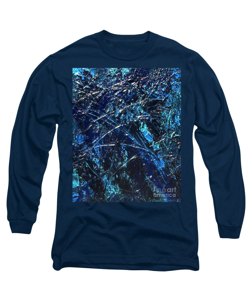 Abstract Long Sleeve T-Shirt featuring the painting Transitions I by Dean Triolo