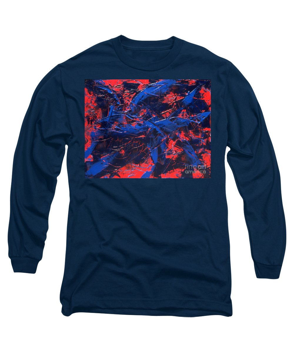 Abstract Long Sleeve T-Shirt featuring the painting Transitions Iv by Dean Triolo