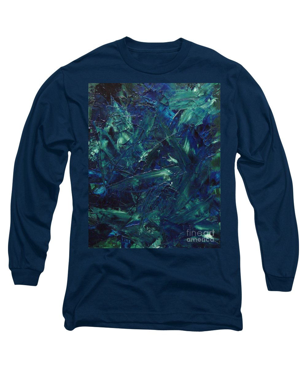 Abstract Long Sleeve T-Shirt featuring the painting Transtions Xi by Dean Triolo