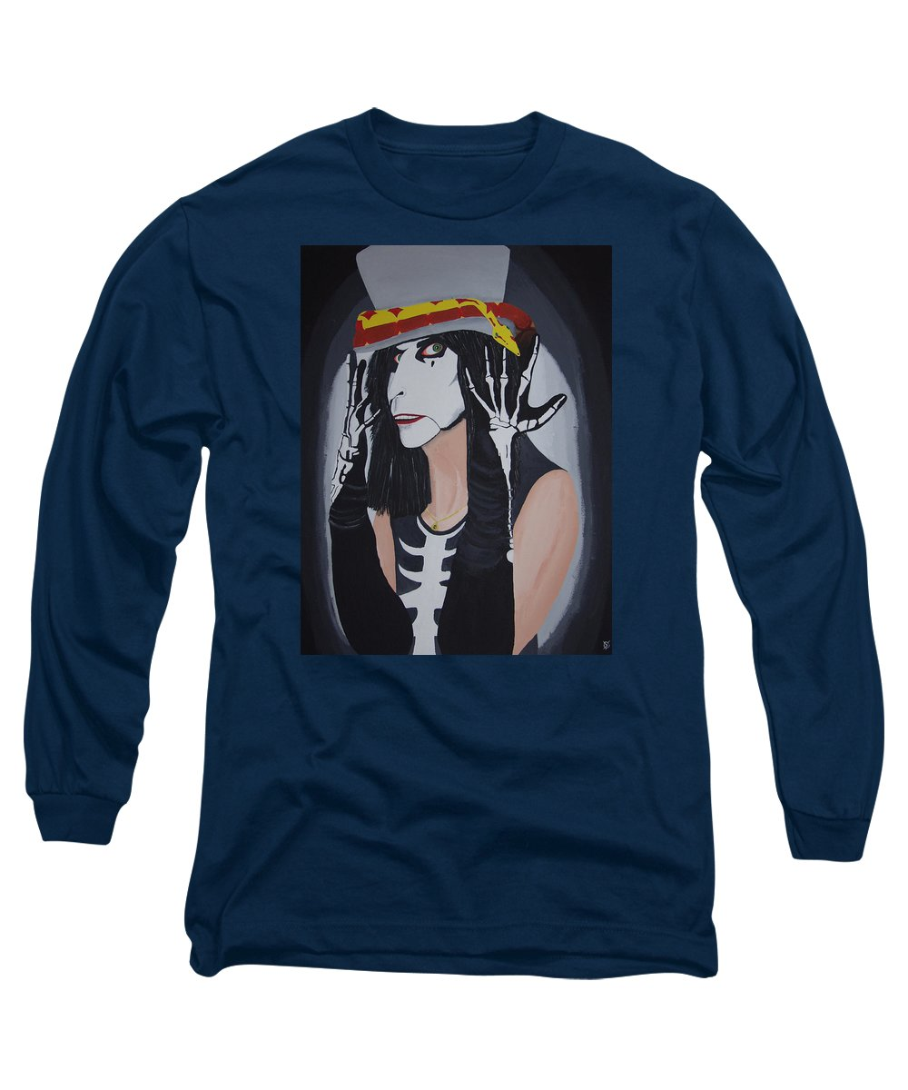 Crazy Long Sleeve T-Shirt featuring the painting Vincent by Dean Stephens